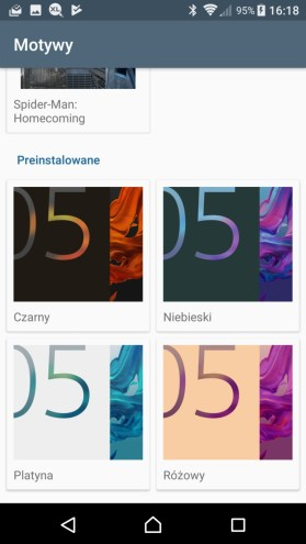 Sony Xperia XZ Premium - motywy - recenzja 90sekund.pl