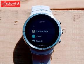 Recenzja zegarka multisportowego Suunto Spartan Ultra White HR - interfejs z za małymi czcionkami i ikonami - 90sekund.pl