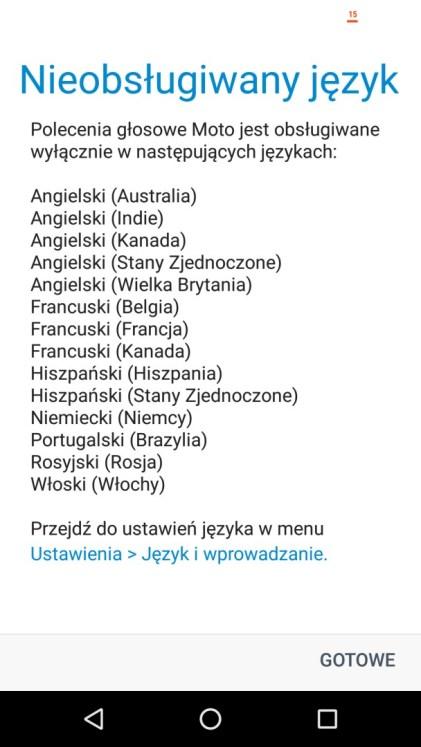 Polecenia głosowe Moto niestety w Moto X4 nie działają - recenzja 90sekund.pl