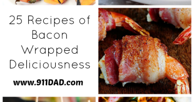 25 delicious recipes all wrapped in bacon- veggies, meats, even fruits and healthier (ha!) options