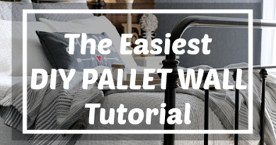 This is definitely the easiest DIY Pallet Wall or weathered wood accent wall tutorial I've seen!