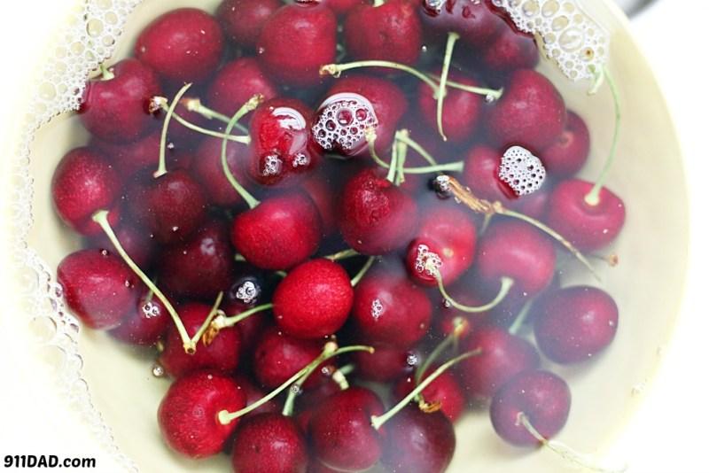 cherries soaking