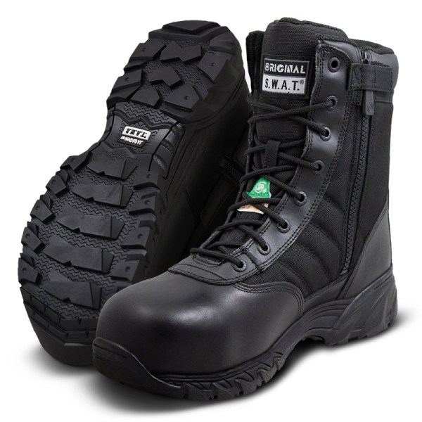 "SWAT Classic 9"" Sidezip Safety Boots"