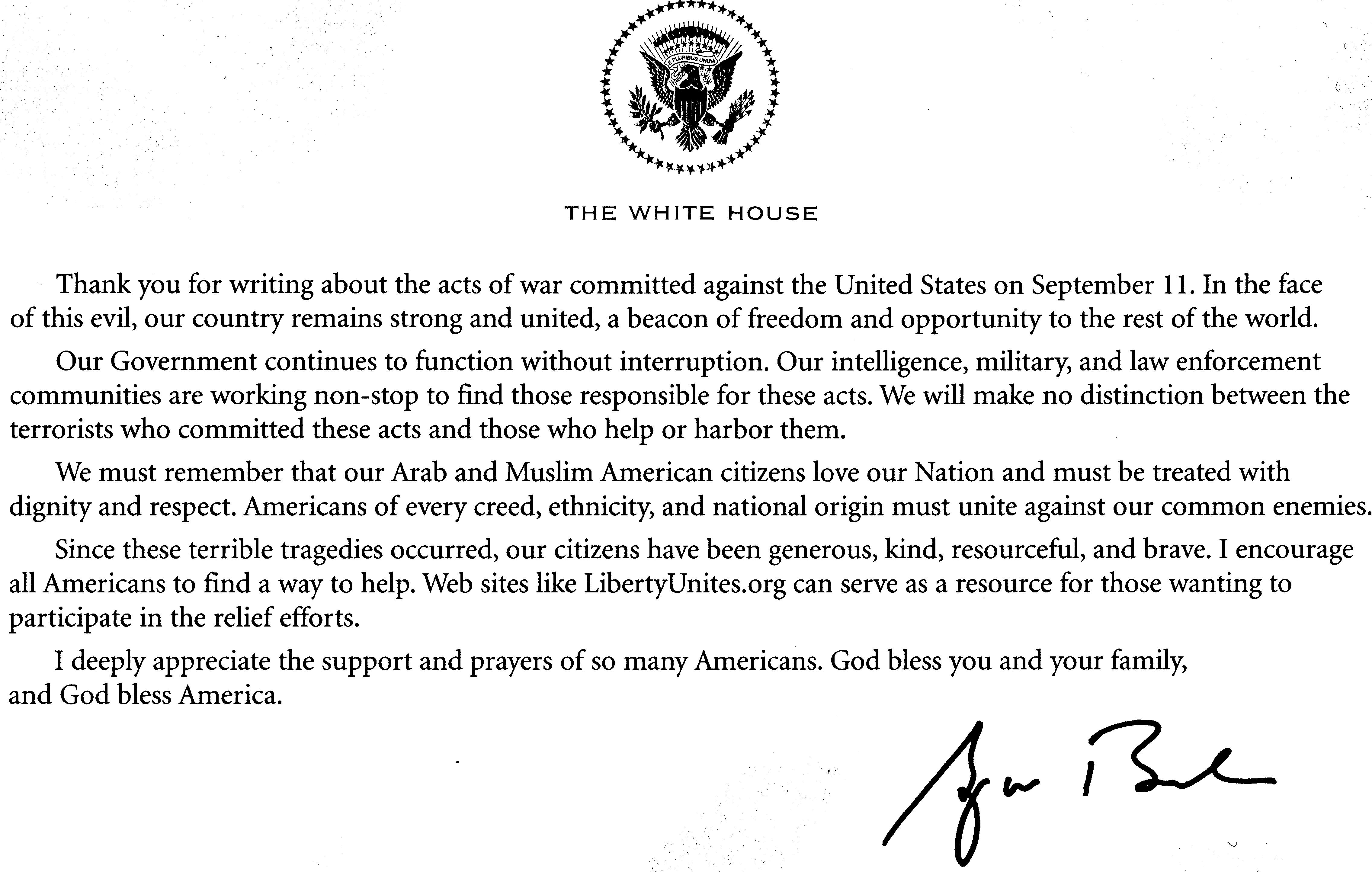 President George Bush Washington D C