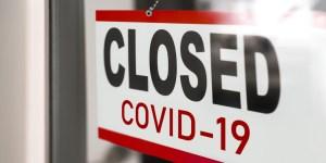 Schild Closed Covid-19