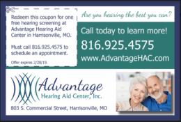Business Card Advantage Hearing