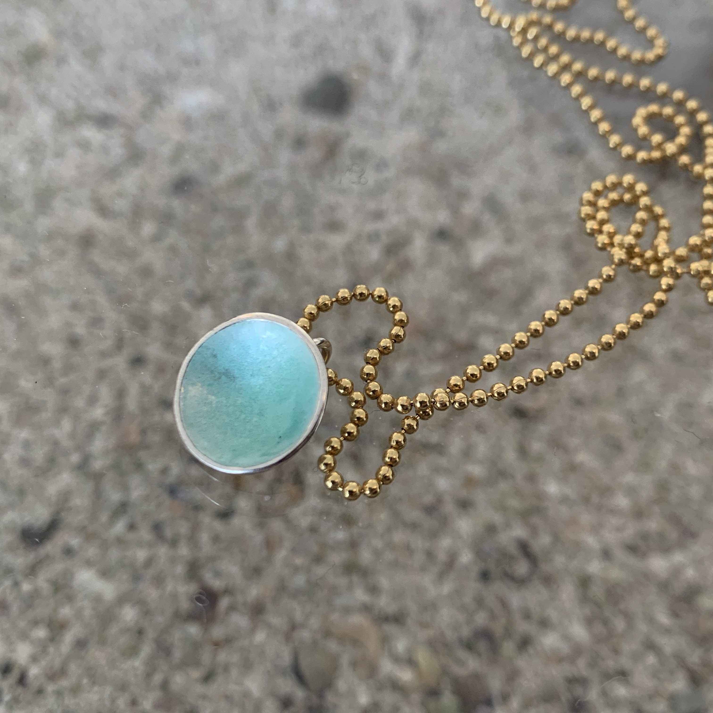 Dots Necklace Turquoise