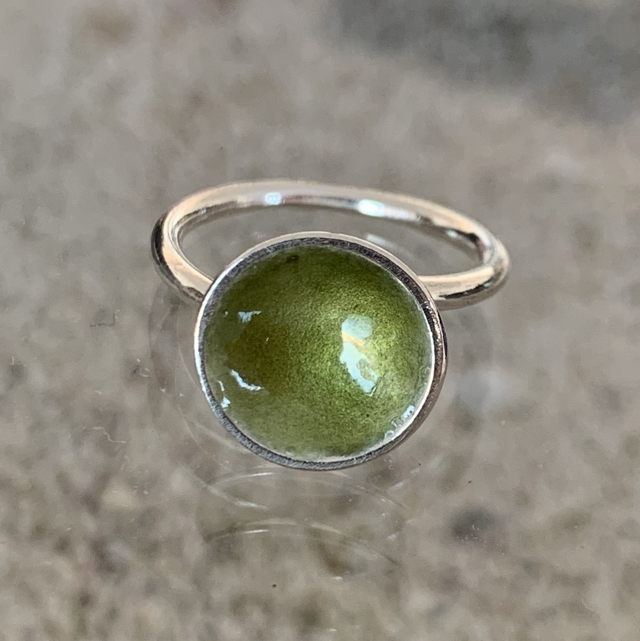 Dots Ring Prosperous Olive