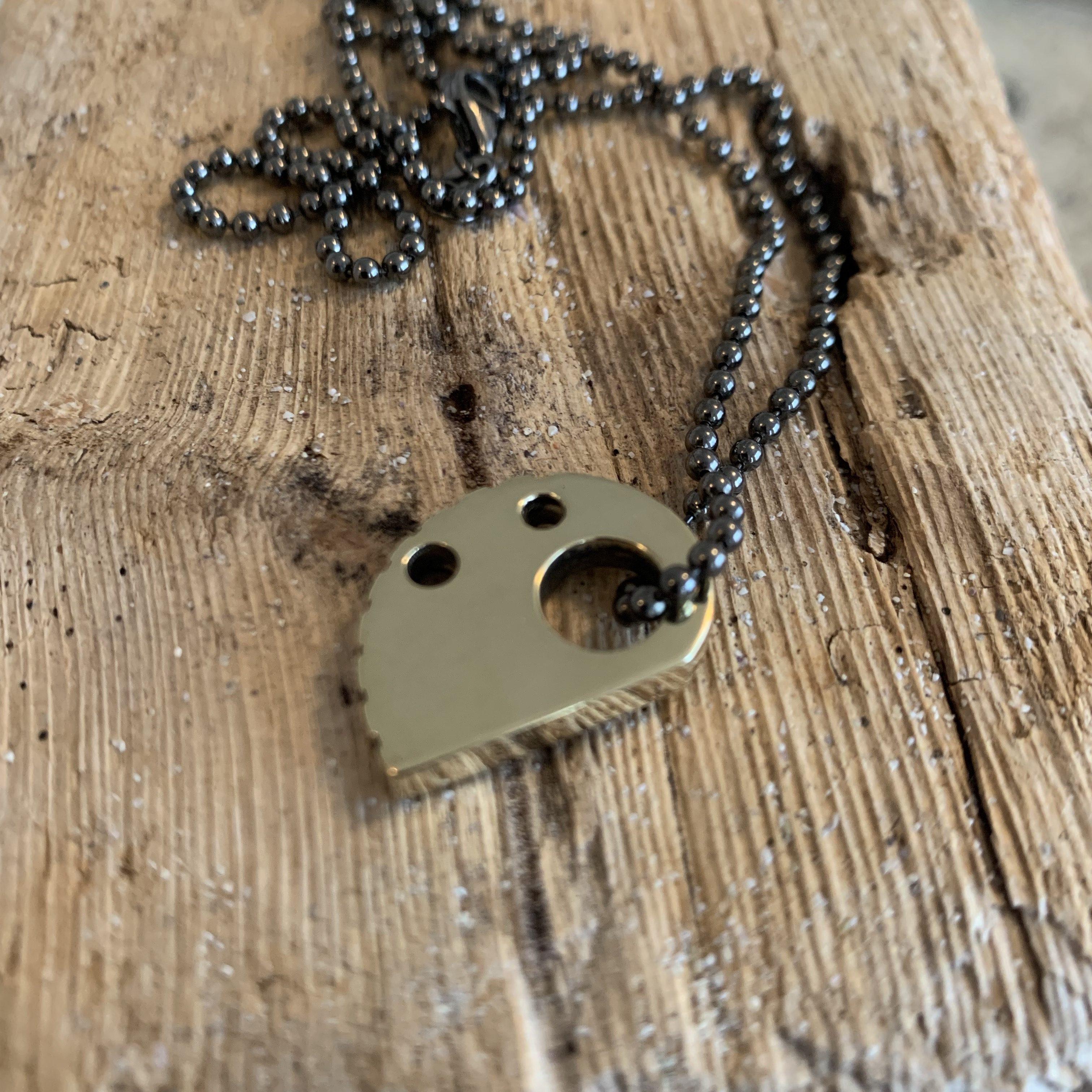 RockHard Necklace Bronze on Black BallChain