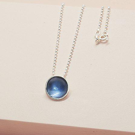 Dots Necklace Blå-Grå