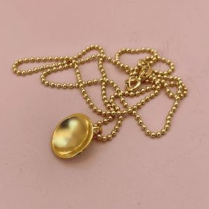 Dots Naked Necklace Gold plated on gold