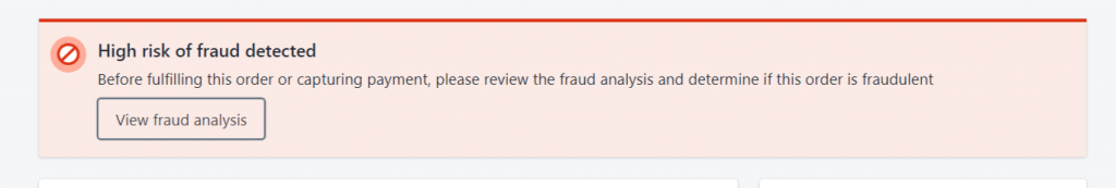 fraudulent transaction and chargeback shopify