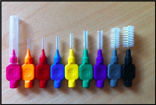 A selection of interdental brushes