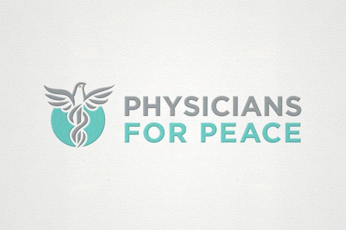 Physicians For Peace logo design, brand development.
