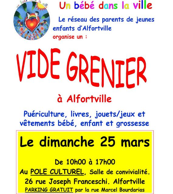 vide grenier special puericulture a alfortville 94 citoyens