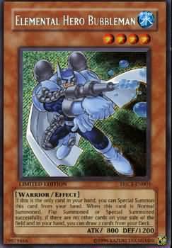 Elemental Hero Bubbleman EHC1 EN003 Secret Rare Yu Gi Oh Promo Cards Yugioh