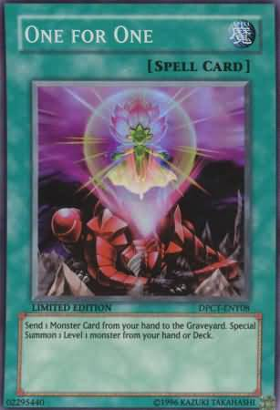 One For One DPCT ENY08 Super Rare Yu Gi Oh Promo