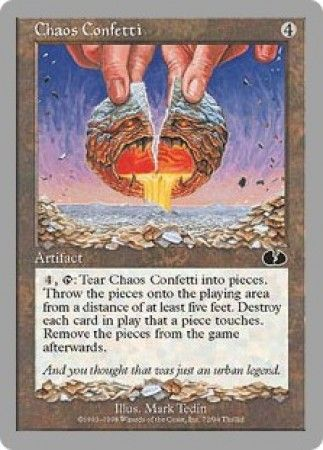 Chaos Confetti Unglued Singles Magic The Gathering