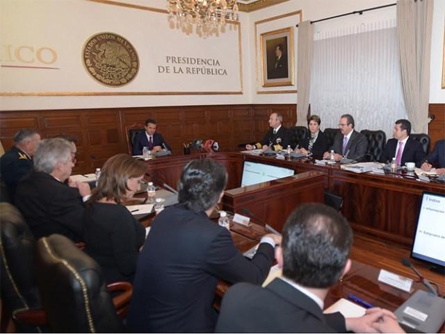 El presidente Enrique Peña Nieto encabezó los trabajos del Grupo de Coordinación Interinstitucional para la Prevención del Ébola (Foto especial)