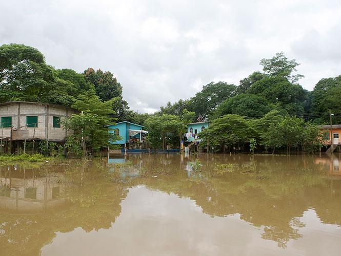 En las rancherías como Los Aztlanes y Acachapan son zonas que históricamente sufren de anegaciones por la crecida de ríos o de lagunas.