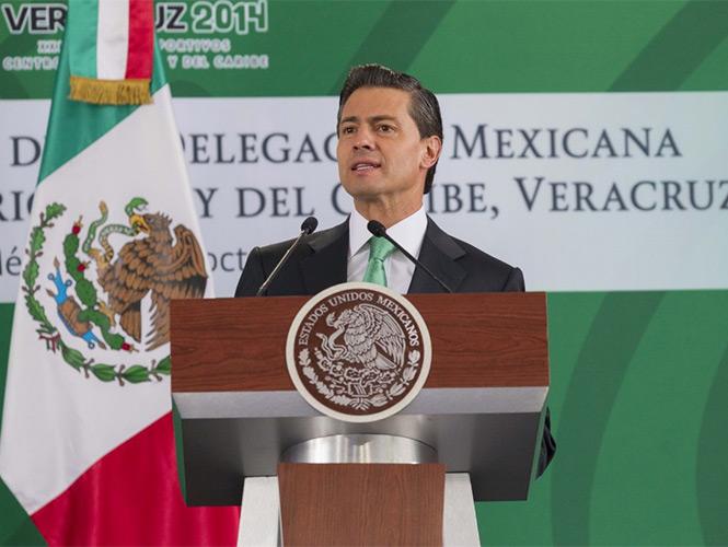 En el abanderamiento de la delegación de los atletas que participarán en los Centroamericanos, Peña Nieto se comprometió a que buscarán a los delincuentes.