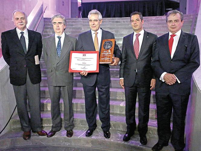 Francisco López Guerra, Rafael Tovar y de Teresa, Carlos Rojas, Alejandro Murat Hinojosa y Javier Ramírez Campuzano. Foto: Luis Enrique Olivares