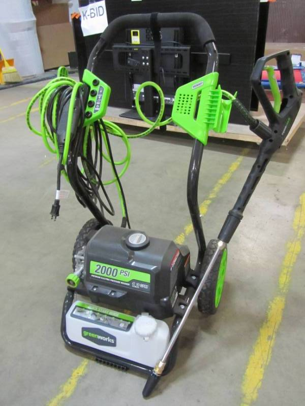 Greenworks 2000 Psi 1 2 Gpm Electric