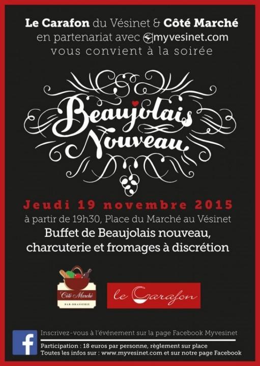 Venez fêter l'arrivée du Beaujolais nouveau et le 2ème  anniversaire de Myvesinet.com