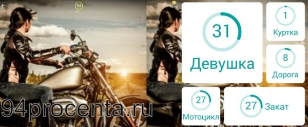 Мотоцикл - 94 процента ответ к игре
