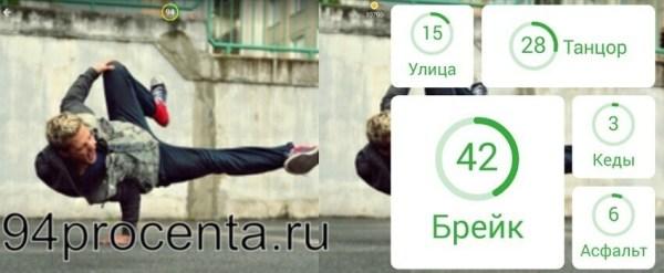 Танцор - 94 процента ответ к игре