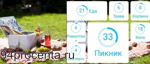 Пикник картинка - 94 процента ответ к игре