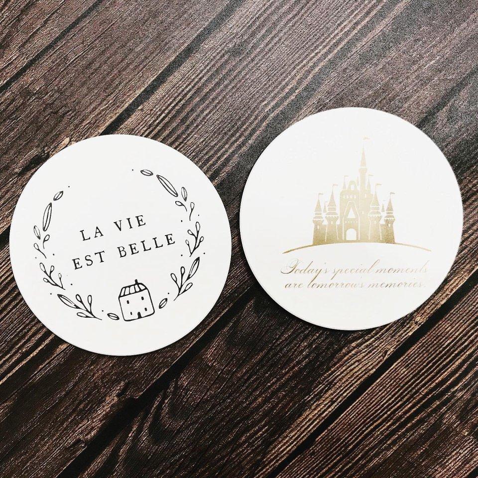 客製陶瓷杯墊和 LOGO 圖