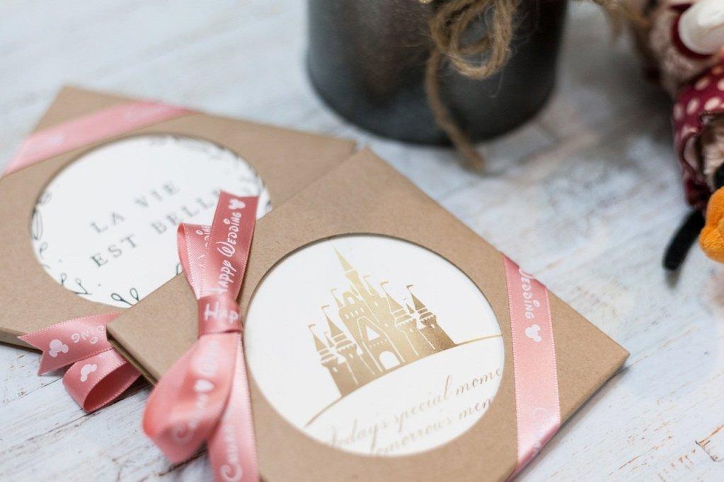 婚攝實拍緞帶與杯墊
