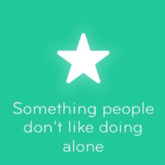 Something people don't like doing alone 94