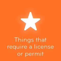 Things that require a license or permit 94