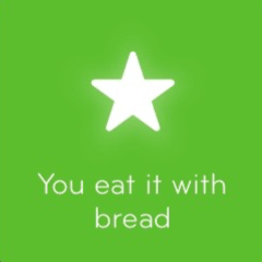 You eat it with bread 94