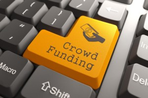 Keyboard with Crowd Funding Button.