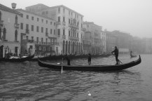 Italy, Venice, The Grand Canal fogged in January