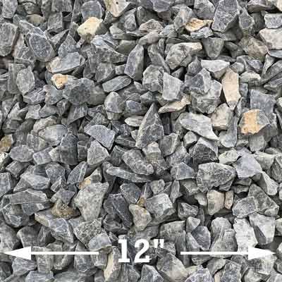 Small midnight basalt rock