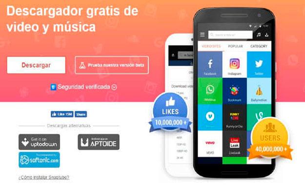 """La popular app Snaptube muestra """"anuncios invisibles"""" y cobra por suscripciones """"premium"""" sin tu permiso"""