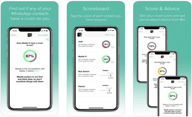La app Mei usa inteligencia artificial para analizar chats para detectar relaciones románticas