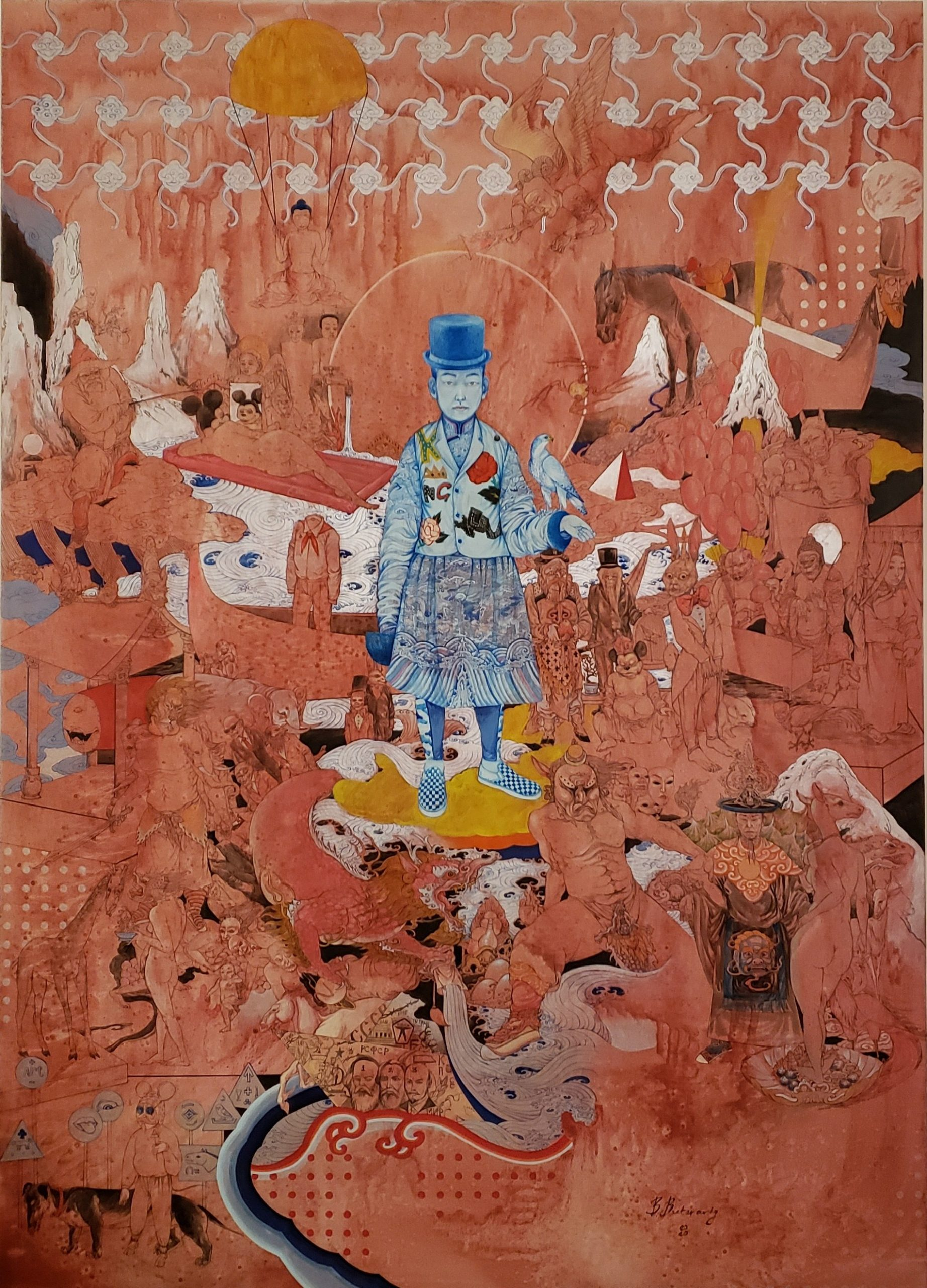 Baatarzorig Batjargal Peter Pan 2020 Acryl on Canvas 140x100cm