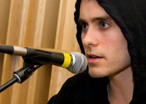 Leto and microphone