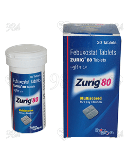 Zurig 80mg 30 Tablet, Zydus