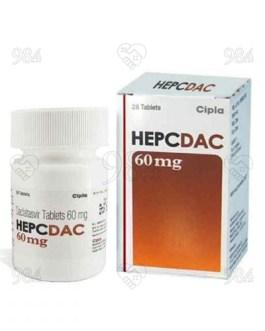 Hepcdac 60mg 28 Tablets, Hetero