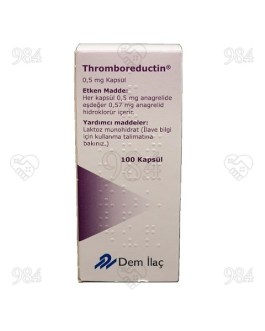 984degree-ThromboReductin 0.5mg 100 Capsules DemIlac anagrelide