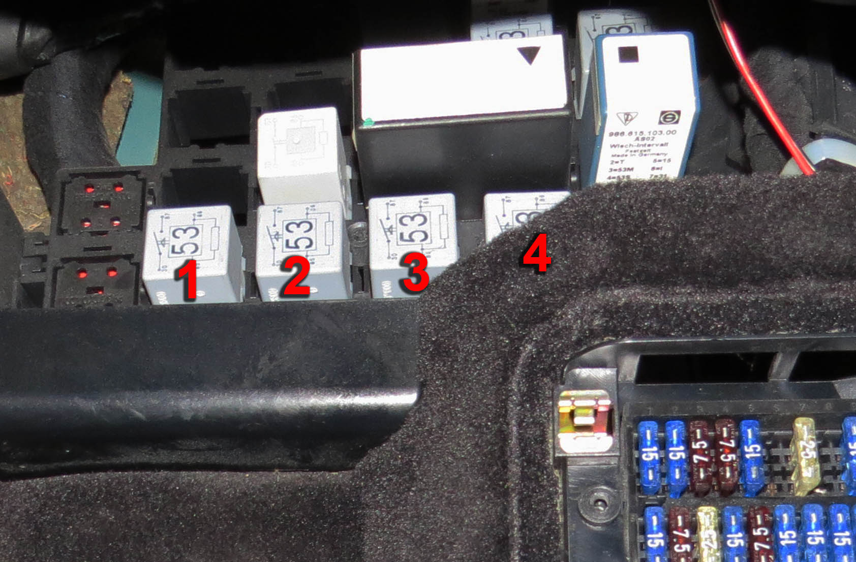 Porsche Boxster Fuse Box Diagram 964