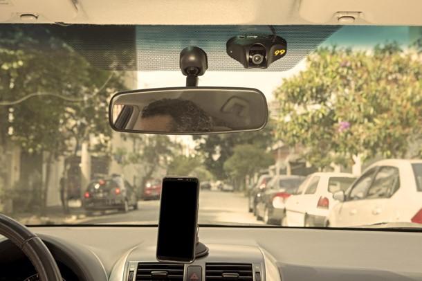 99 lança câmera de segurança que grava dentro e fora do carro