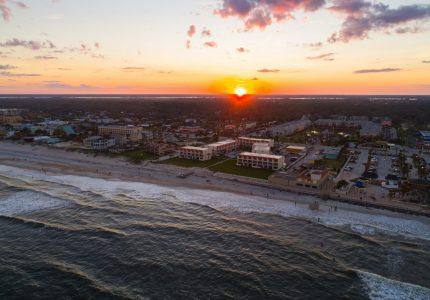 Aerial image of St augustine Beach FL USA