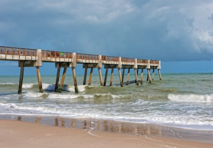 Pier Near Jaycee Park In Vero Beach Florida